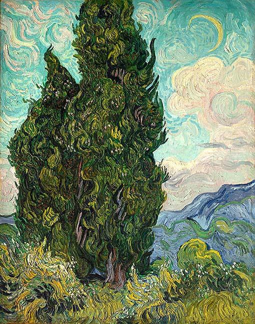 20200112 ゴッホ展 糸杉 1889 メトロポリタン美術館 18㎝
