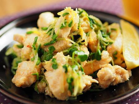 水晶鶏の辛子明太子和え015