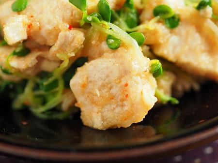 水晶鶏の辛子明太子和え021