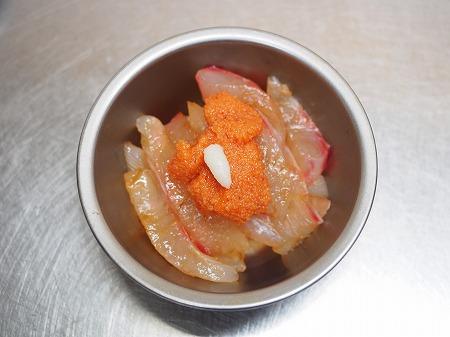 鯛の刺身の辛子明太子和え033