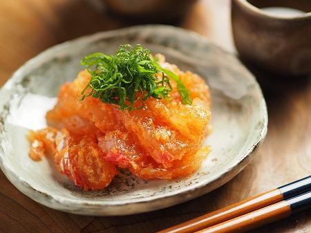 鯛の刺身の辛子明太子和え012
