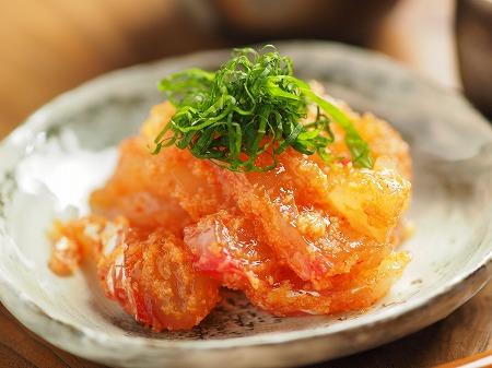 鯛の刺身の辛子明太子和え014