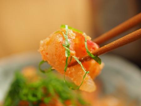鯛の刺身の辛子明太子和え019