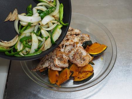 かぼちゃと豚の生姜焼き作り028