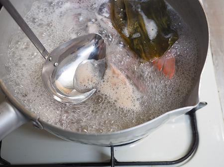 チダイの刺身、さばき方、味噌060
