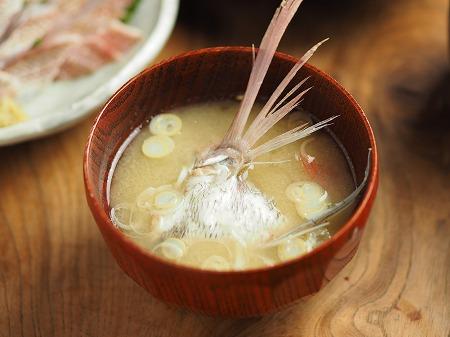 チダイの刺身、さばき方、味噌020