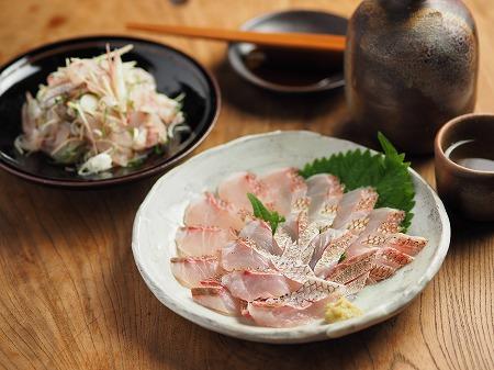 チダイの刺身、さばき方、味噌001