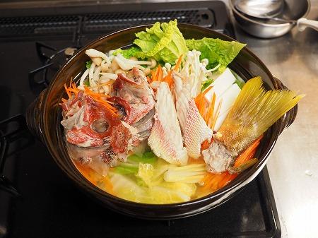 ヨコスジフエダイのちり鍋061