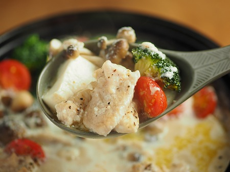 鶏むね肉のミルク鍋043