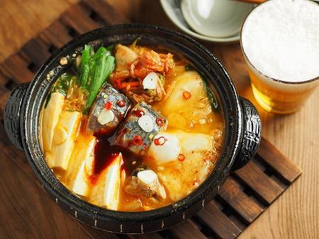サバ缶と餅のキムチ鍋026