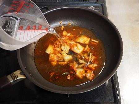 サバ缶と餅のキムチ鍋060