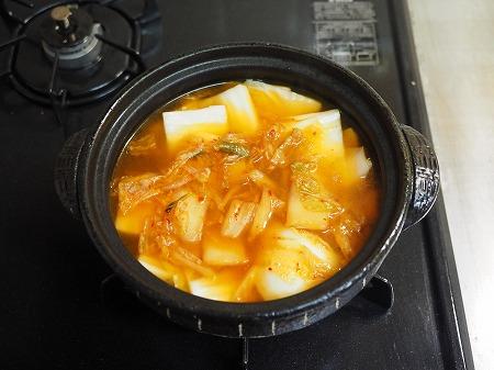 サバ缶と餅のキムチ鍋065