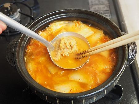 サバ缶と餅のキムチ鍋073