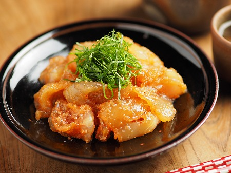 平目刺身の辛子明太漬け011