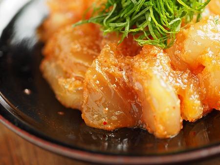 平目刺身の辛子明太漬け023