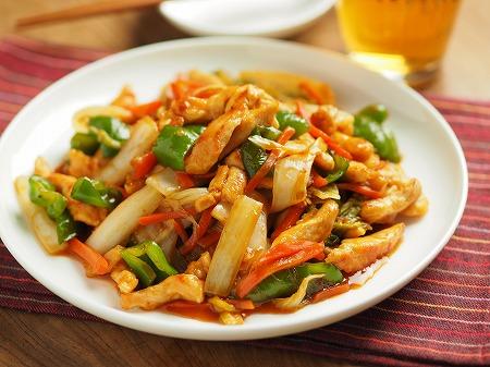 白菜と鶏むね肉のピリ辛オイス033