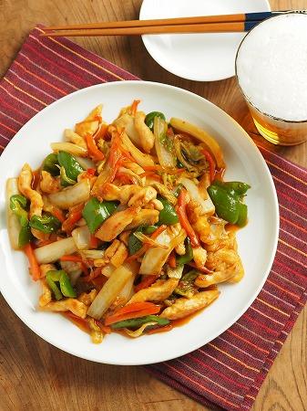 白菜と鶏むね肉のピリ辛オイス024