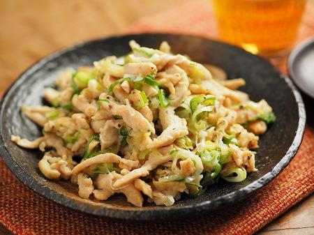 鶏むね肉のネギマヨ炒め011