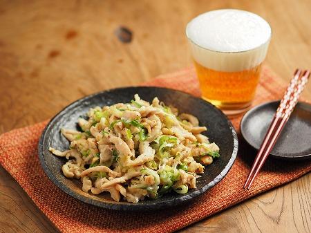 鶏むね肉のネギマヨ炒め005