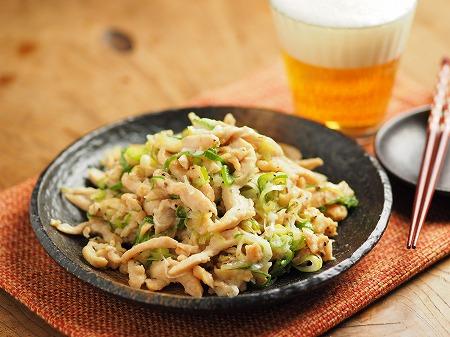 鶏むね肉のネギマヨ炒め009