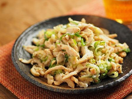 鶏むね肉のネギマヨ炒め010