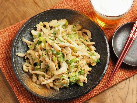 鶏むね肉のネギマヨ炒め015