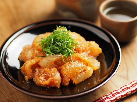 平目刺身の辛子明太漬け017