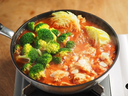 鶏むね肉ブロッコリートマト完008
