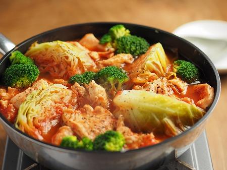 鶏むね肉とキャベツのトマト鍋007