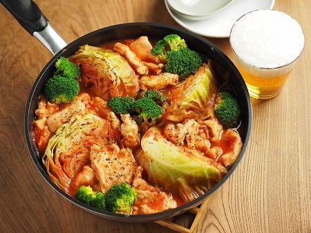 鶏むね肉とキャベツのトマト鍋019