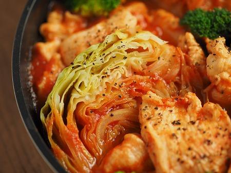 鶏むね肉とキャベツのトマト鍋021