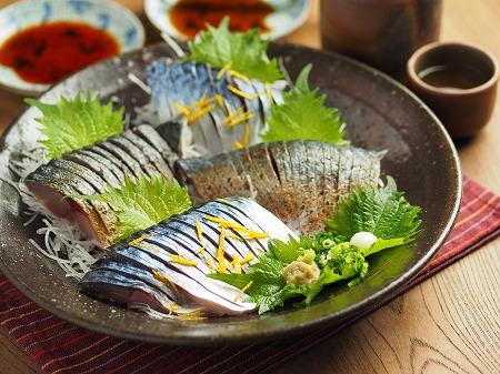 五島鯖の刺身、炙り刺身049