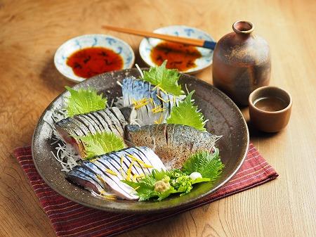 五島鯖の刺身、炙り刺身031