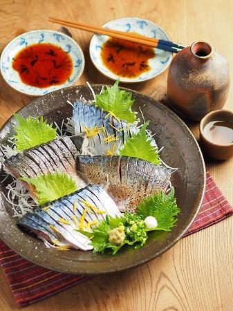 五島鯖の刺身、炙り刺身035