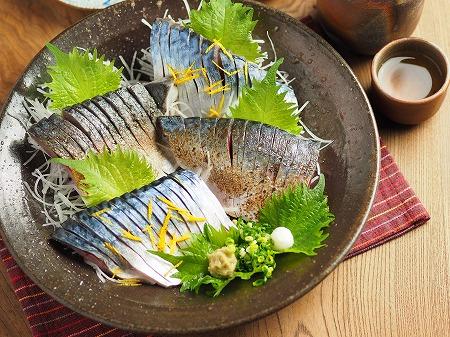 五島鯖の刺身、炙り刺身038