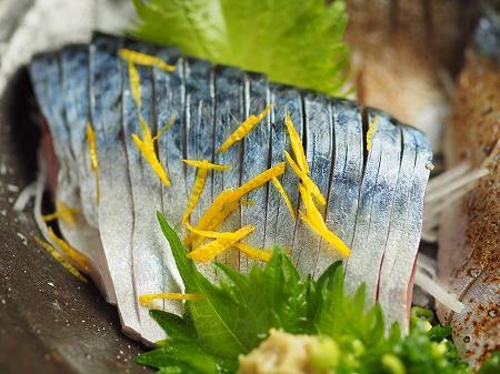五島鯖の刺身、炙り刺身063