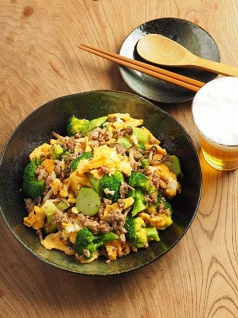 ブロッコリーと豚肉の卵炒め020