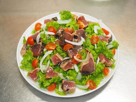 新玉ねぎとわさび菜の海鮮サ044