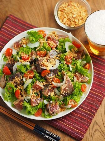 新玉ねぎとわさび菜の海鮮サ016