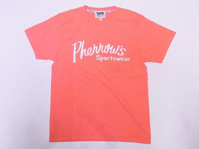 フェローズ Pherrow's Tシャツ 20S-PT1 サーモン