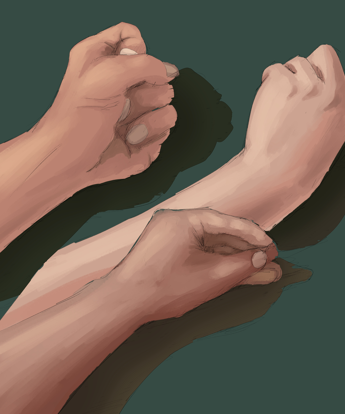 手を描く練習 スケッチ