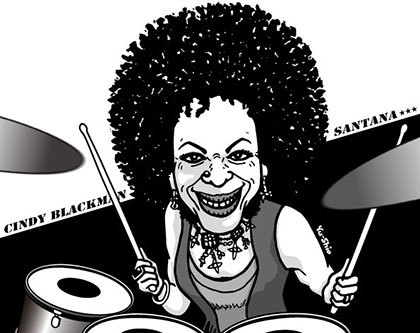 Tony Allen caricature likeness