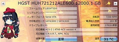 【CrystalDiskInfo 8.3.2】Ultrastar He12 HUH721212ALE600