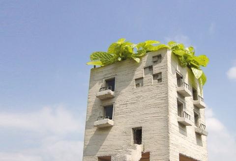 マンションに見える植木鉢05