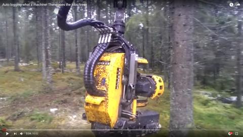 森林伐採マシン01
