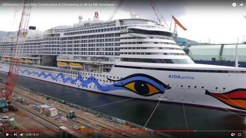 巨大な客船10