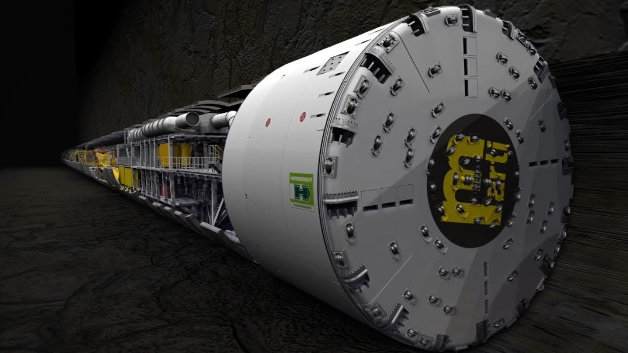 超巨大!トンネル掘りに使うシールドマシンの裏側が凄い!!