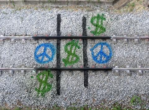 線路を使ったアート02