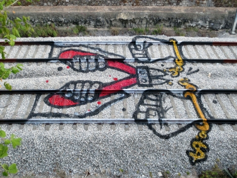 線路を使ったアート06