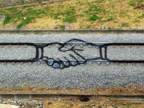 線路を使ったアート07